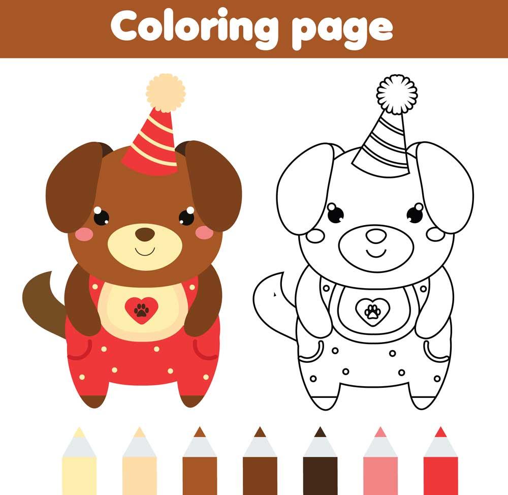 Animales Kawaii. Dibujos Kawaii De Animales Para Colorear