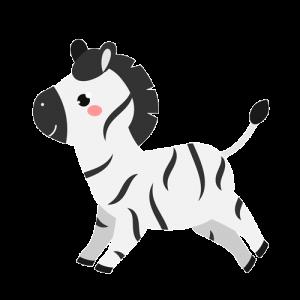 cebra kawaii png