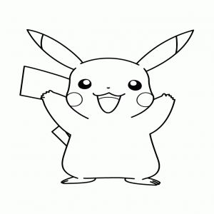 colorar pikachu kawaii