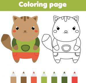 colorear animales kawaii