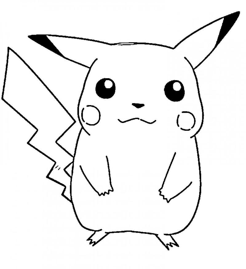 Pikachu Kawaii. Imagenes PNG Wallpaper y Dibujos para Colorear