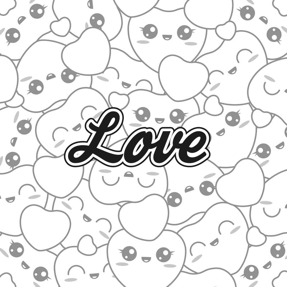 Imagenes Y Dibujos Kawaii De Amor Para Colorear