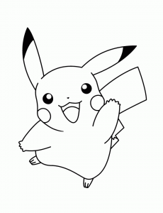 coloring pikachu kawaii