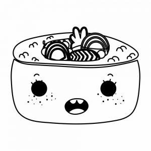 comida kawaii coloriar