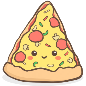 comidas chatarra pizza kawaii png