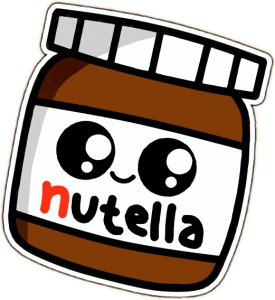dibujo nutella kawaii