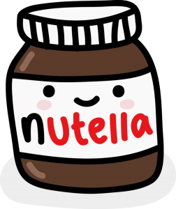 dibujo nutella kawaii png