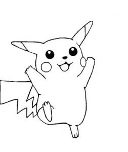 dibujo pikachu kawaii para colorear