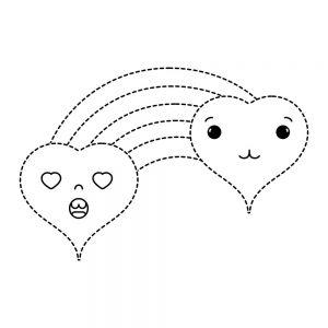 dibujos de amor kawaii colorear