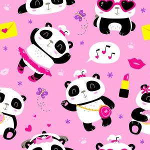 fondo pantalla panda kawaii