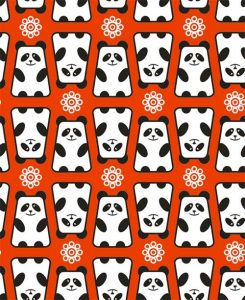 panda kawaii fondo cell