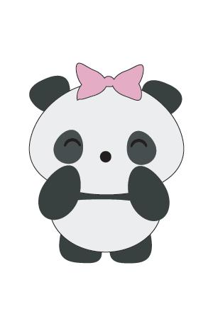 panda kawaii niña