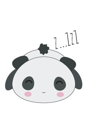 panda kawaii png dormido