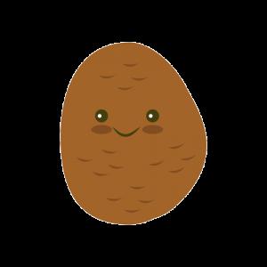 patata kawaii feliz