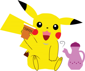 pikachu kawaii cafe png