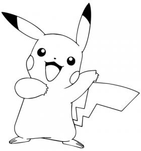 pikachu kawaii colorear