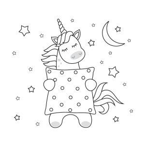 unicornio tierno colorear