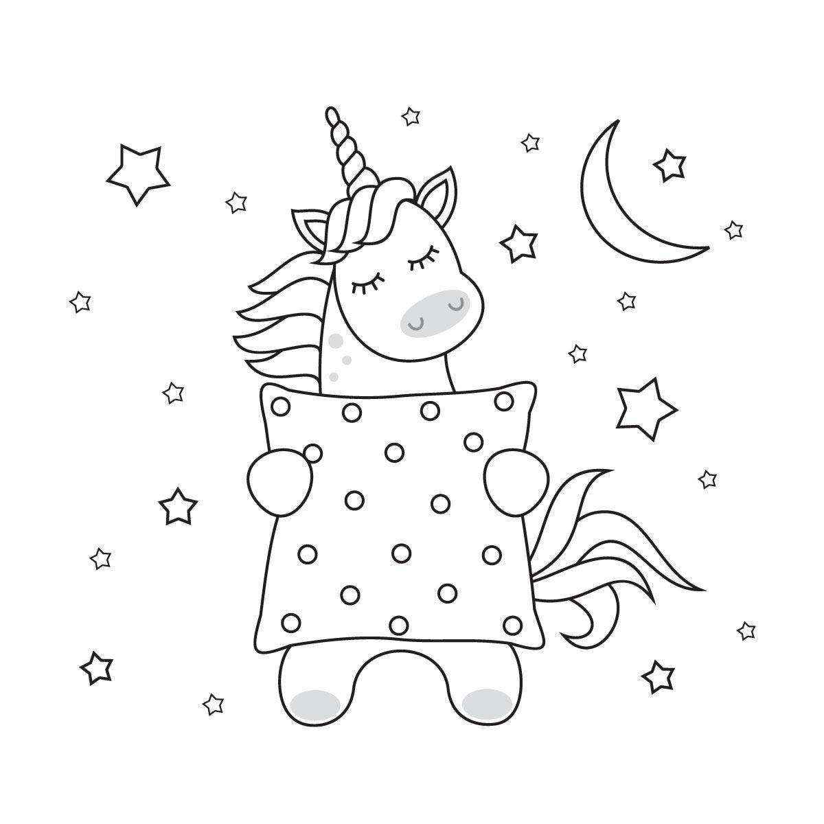 Dibujos Para Colorear Unicornios Kawaii