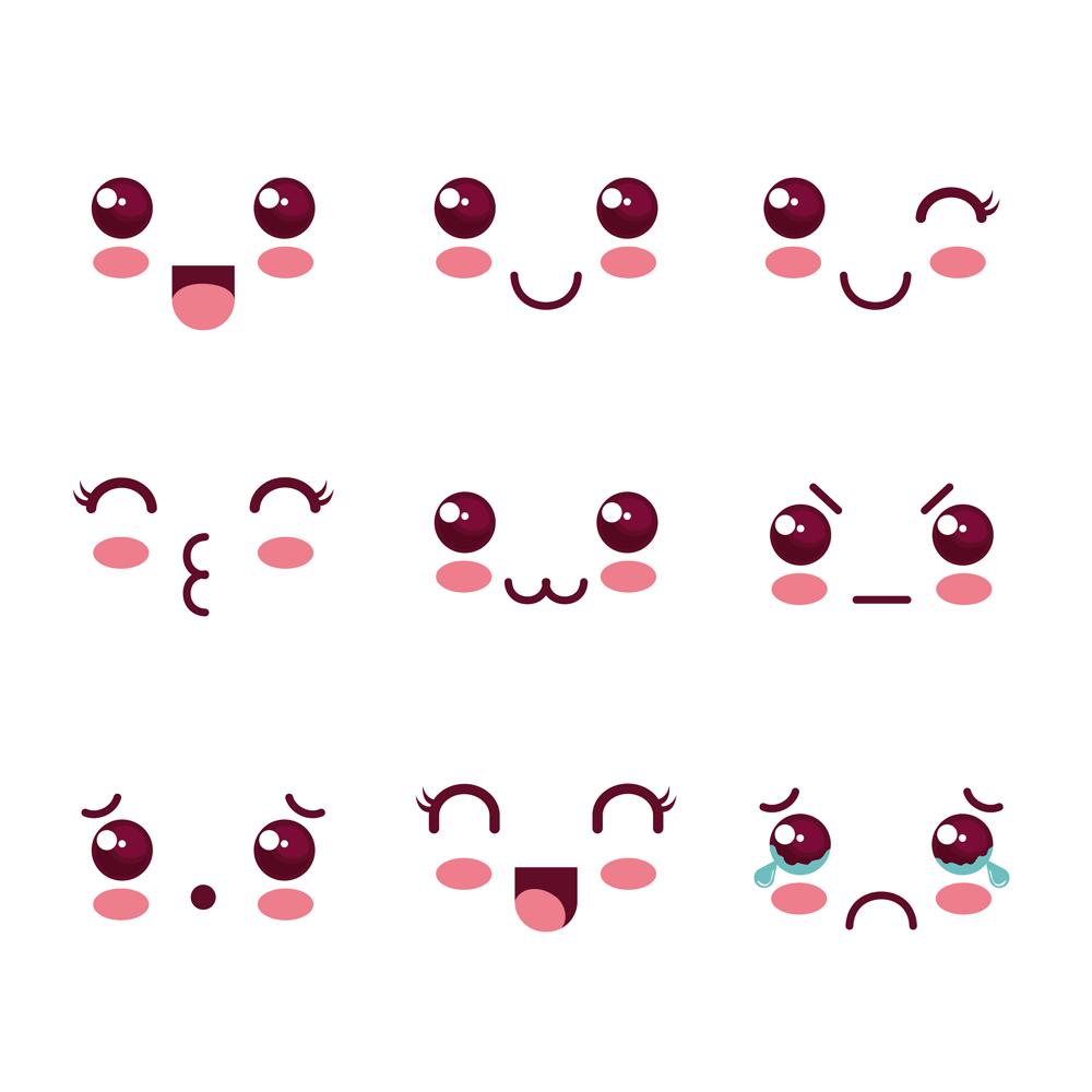 Caritas kawaii para dibujar emojis kawaii facebook png - Emoticone kawaii ...