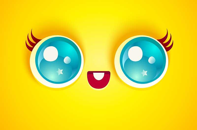 Caritas Kawaii Para Dibujar Emojis Kawaii Facebook Png