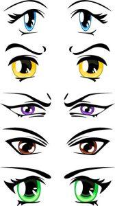 ojos kawaii anime