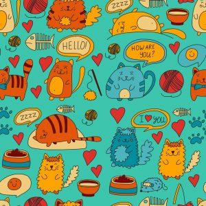 fondo de pantalla gatos kawaii