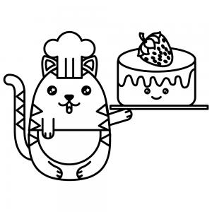 gato kawaii cake