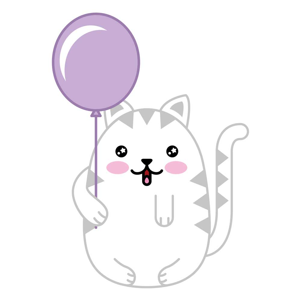 Gatos Kawaii. Imágenes De Gatitos Dibujos Para Colorear Y