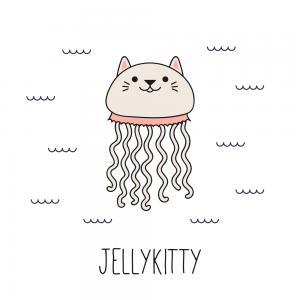 imagen gato meduza kawaii