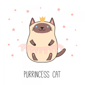 gato princesa kawaii