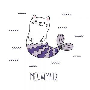 imagen gato sirena kawaii