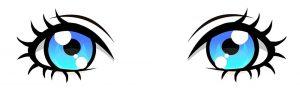 imagenes ojos azules kawaii
