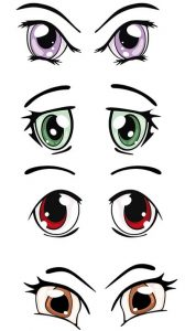 pack ojos kawaii