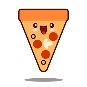 dibujo pizza kawaii png