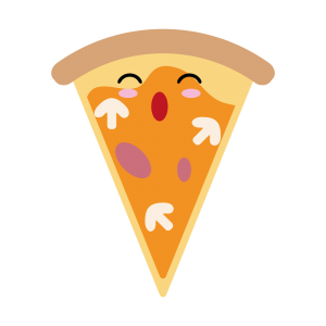 pizza bonita kawaii