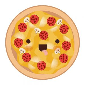 pizza entera kawaii