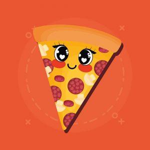 pizza kawaii imagen