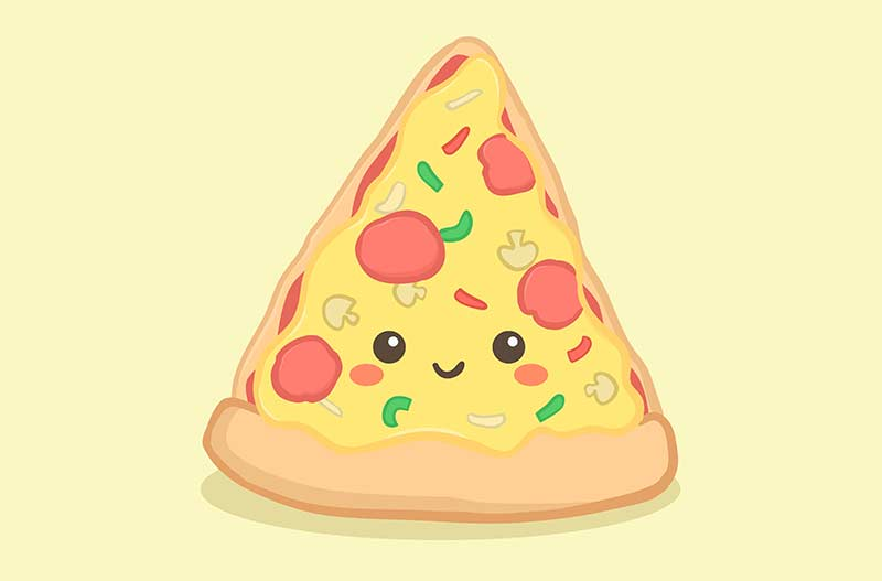 pizza kawaii