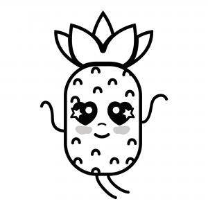 Piña Kawaii Todas Las Imágenes Y Dibujos De Piñas Para Colorear