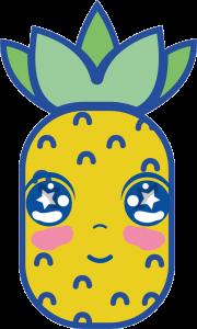 clasica piña kawaii png