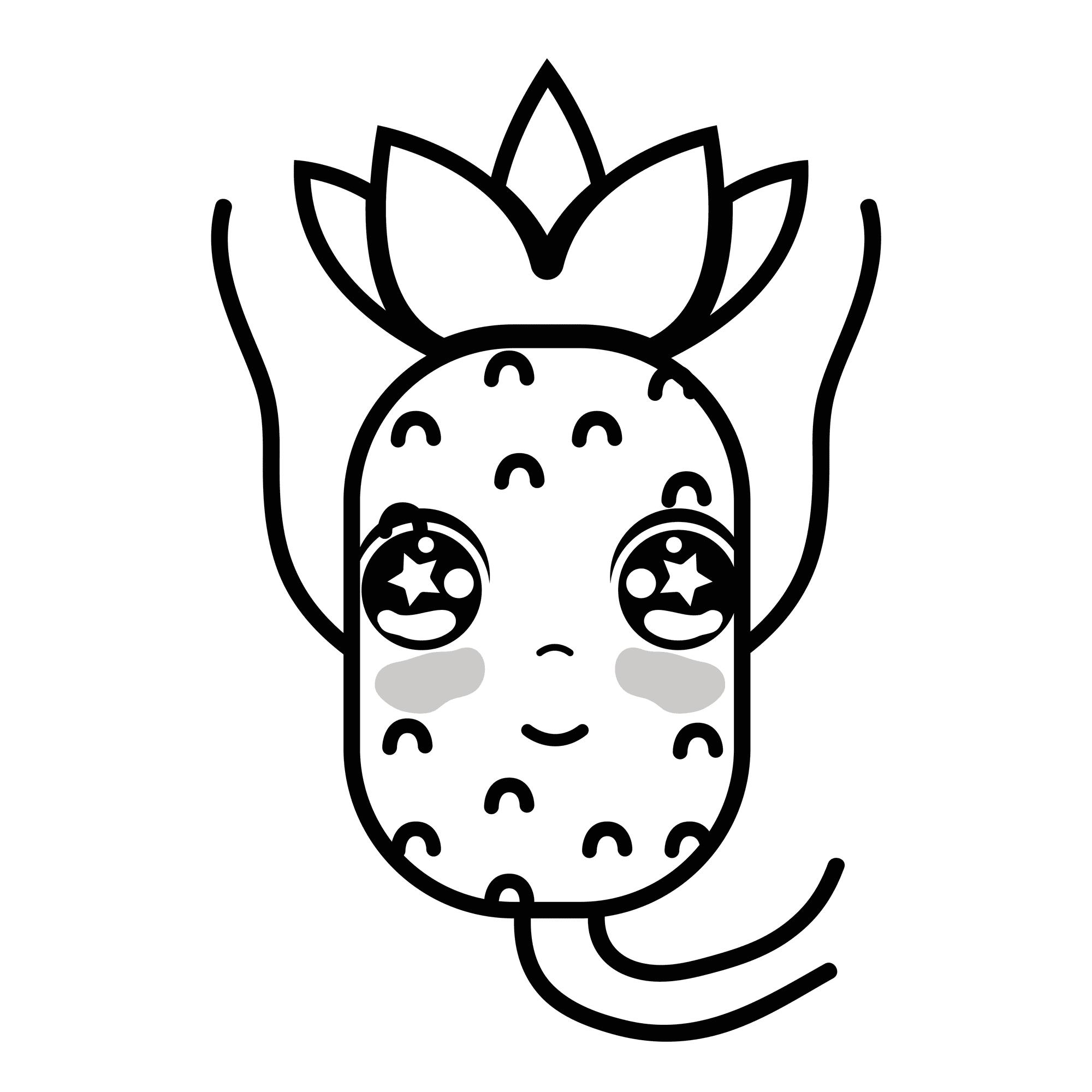 Piña Kawaii Todas Las Imágenes Y Dibujos De Piñas Para