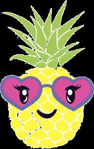 piña kawaii en png