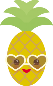 piña kawaii cute png