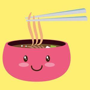 imagen de comida kawaii
